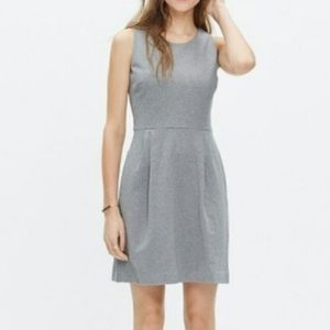 Madewell Verse Ponte Dress Gray Small Pockets Fit